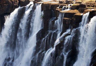Papiers peints Détail, chute, eau, Victoria, chutes. Fermer. Parc national de Mosi-oa-Tunya. Et site du patrimoine mondial. Zambiya. Zimbabwe. Une excellente illustration.