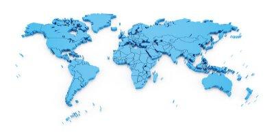 Papiers peints Détail, mondiale, carte, national, frontières, 3D, render