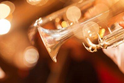 Papiers peints Détail, trompette, closeup, doré, tons