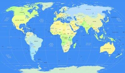Papiers peints Détail vectorielle politique World Map