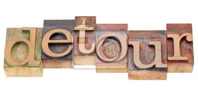 Papiers peints Détourner le mot dans le type letterpress