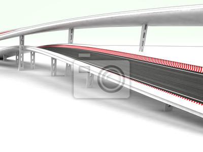 deux autoroutes du viaduc sur fond blanc
