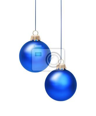 Deux boules de Noël bleu