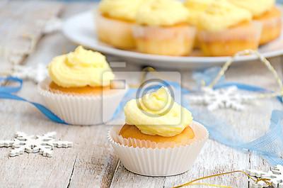 Deux gâteaux de Noël vanille