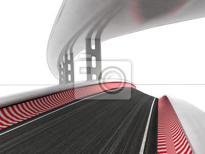 deux routes de course sur fond blanc