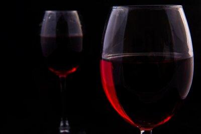 Papiers peints Deux verres de vigne rouge