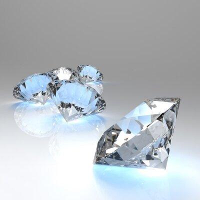 Papiers peints Diamants 3d dans la composition