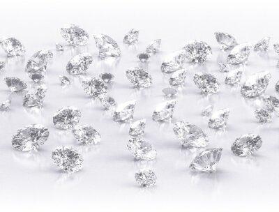 Papiers peints diamants grand groupe sur fond blanc