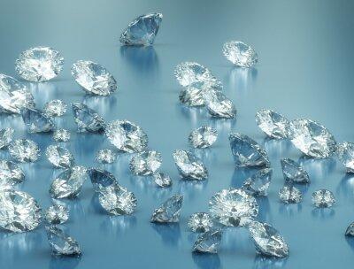 Papiers peints Diamants sur fond bleu