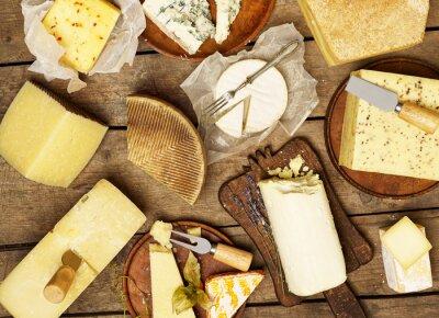 Papiers peints Différents types de fromage
