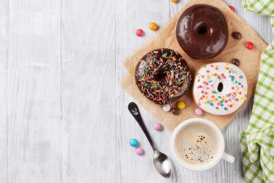 Papiers peints Donuts et café