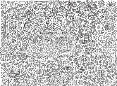 Coloriage Adulte A Imprimer Abstrait.Papiers Peints Doodle Detaille Surrealiste Abstrait Page A Colorier Pour Les
