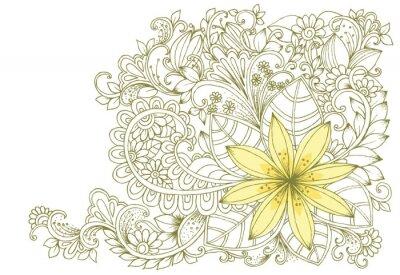 Papiers peints Doodles floraux