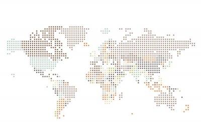 Papiers peints Dotted, mondiale, carte, carré, points