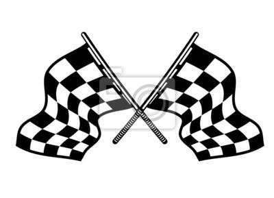 Drapeaux croisés de sport automobile