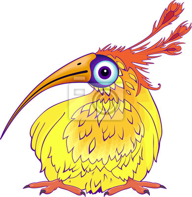 drôle d'oiseau de dessin animé