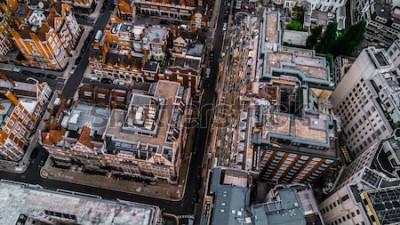 Papiers peints Drone Photo de Londres, Mayfair.