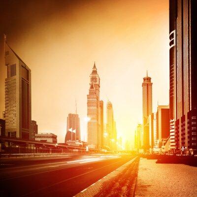 Papiers peints Dubaï ville au coucher du soleil