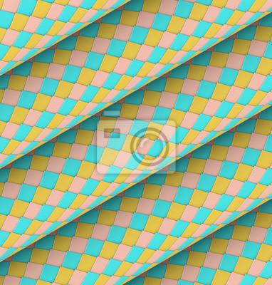 Écaille De Poisson En Forme De Rouleau En Diagonale Carrelage Papier - Carrelage écaille de poisson