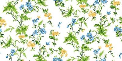 Papiers peints Écho, floral, seamless, modèle