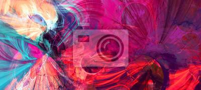 Papiers peints Éclats artistiques brillants. Texture de couleur peinture abstraite. Modèle futuriste moderne. Arrière-plan multicolore lumineux dynamique. Oeuvre de fractale pour la conception graphique créative