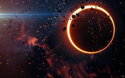 Papiers peints Éclipse solaire au-dessus d'une nébuleuse. Éléments de cette image fournis par la NASA