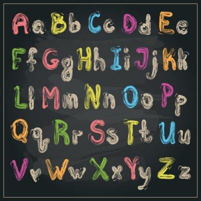 Papiers peints Écrit avec un alphabet de pinceau