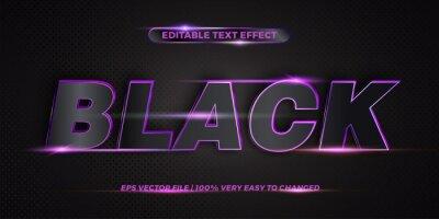 Papiers peints Editable 3d text effect styles mockup concept - Dark blue words with Gradient Black color