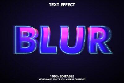 Papiers peints Editable blur text effect