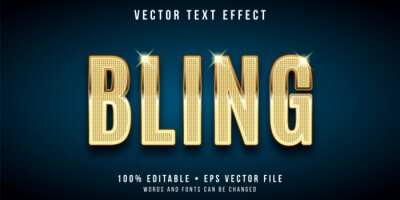 Papiers peints Editable text effect - golden bling style