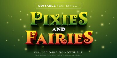 Papiers peints Editable text effect in fairy tales story style