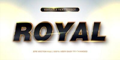 Papiers peints Editable text effect - Royal text style concept