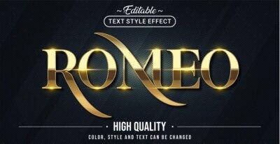 Papiers peints Editable text style effect - Romeo text style theme.
