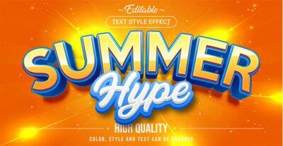 Papiers peints Editable text style effect - Summer theme style.