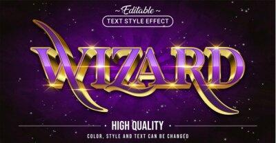 Papiers peints Editable text style effect - Wizard text style theme.
