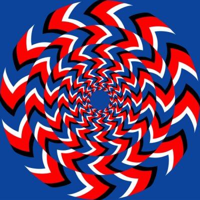 Papiers peints effet de rotation avec effet d'illusion optique