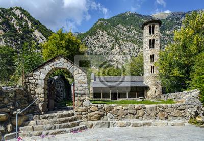 Papiers peints Église de Santa Coloma de structure pré-romane à Andorre
