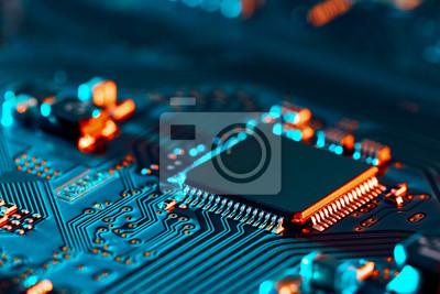 Papiers peints Electronic circuit board close up.