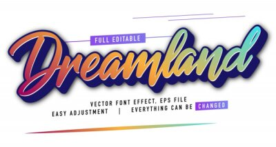 Papiers peints elegant and colorful text effect design, full editable vector, easy to adjust to the needs, full color, modern style and fun