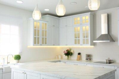 Papiers peints Elegant interior of new kitchen with stylish furniture