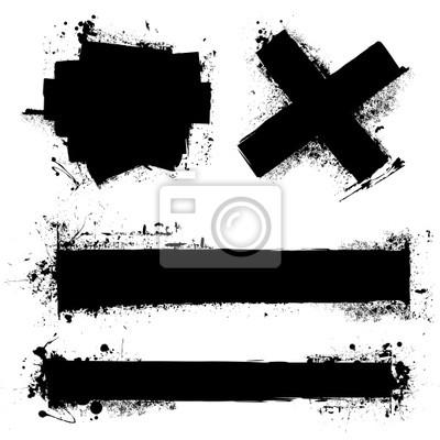 Papiers peints élément grunge de floc