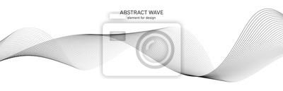 Papiers peints Élément vague abstrait pour la conception. Égaliseur de fréquence numérique. Fond stylisé de dessin au trait Illustration vectorielle Wave avec des lignes créées en utilisant l'outil de fusion. Ligne