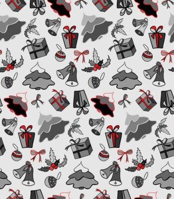 Papiers Peints éléments De Noël Illustration Pour Un Papier Demballage Papier