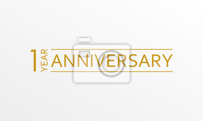 Papiers peints Emblème d'anniversaire de 1 an. Icône d'anniversaire ou étiquette. Élément de conception de célébration et de félicitation 1 an. Illustration vectorielle