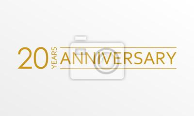 Papiers peints Emblème d'anniversaire de 20 ans. Icône ou étiquette d'anniversaire. 20 ans de célébration et élément de conception de félicitations. Illustration vectorielle.