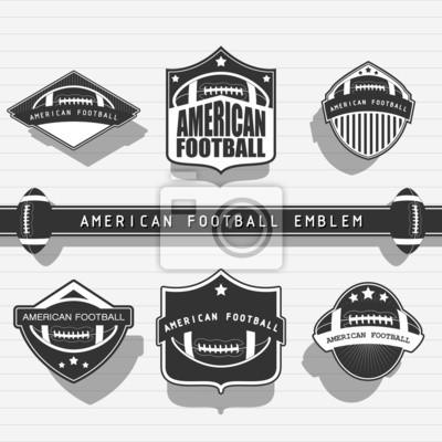 Emblème de football américain