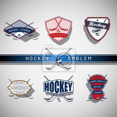 emblème de Hockey sur glace - couleur