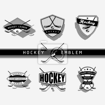 emblème de Hockey sur glace - monochrome