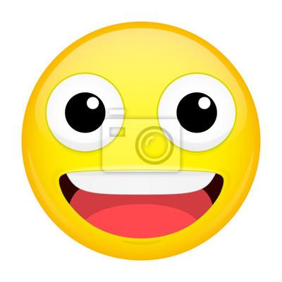 Emoji Souriant Rire Emotion Joyeux Emoticone Heureux Vector Papier Peint Papiers Peints Emoticones Il Est Rejouissez Vous Myloview Fr