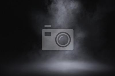 Papiers peints empty floor with smoke on dark background